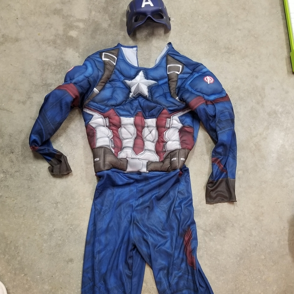Marvel Costumes Captain American Costume Boys Large Poshmark Buy products such as captain marvel superhero deluxe women's costume at walmart and save. poshmark